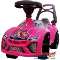 Каталка 021 Машина розовая для катания детей Ламбо