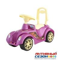 Каталка 900 Машина розовая перламутр для катания детей, Ретро