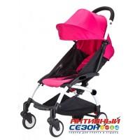 Коляска для детей с функцией легкой сборки, колеса PU (розовый)