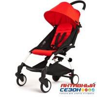 Коляска для детей с функцией легкой сборки, колеса PU (красный)