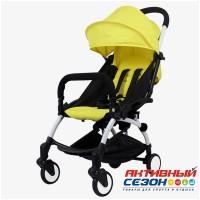 Коляска для детей с функцией легкой сборки, колеса PU (желтый)