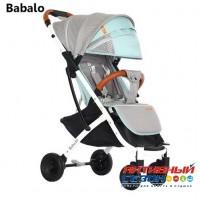 Прогулочная коляска Babalo серый-бирюза