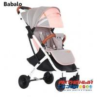 Прогулочная коляска Babalo серый-розовый