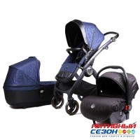 Коляска Lux mom 3в1 N80T (NavyBlue)
