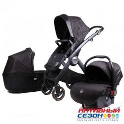 Коляска Lux mom 3в1 N80T (Black)