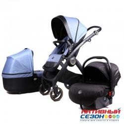 Коляска Lux mom 3в1 N80T (Blue)