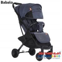 Прогулочная коляска Babalo Джинс Синий (рама черная)