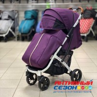 Прогулочная коляска Babalo 2020 Фиолетовый (рама белая)
