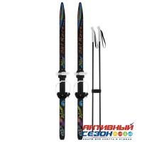Лыжи подростковые «Ski Race» с палками, 120/95 см