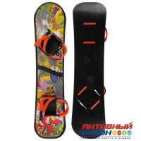 Сноуборд с креплениями, цвета МИКС
