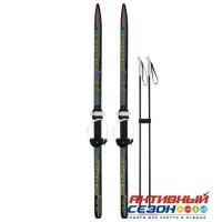 Лыжи подростковые «Ski Race» с палками, 130/100 см, цвета МИКС