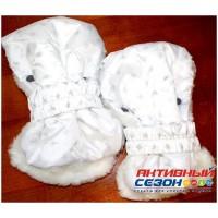 Рукавички для санок РС1 (принт со снежинками)