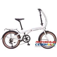 """Велосипед складной Novatrack TG-20"""" (2018) (20'' 7 скор.) (Цвет: Белый) Рама Алюминий"""