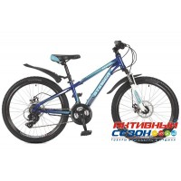 "Велосипед Stinger Aragon (24"" 21 скор.) (Р-р = 14""; Цвет: Синий) Рама Сталь"