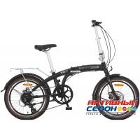Велосипед складной Novatrack TG-20 Disk (2018) (20'' 8 скор.) (Цвет: Черный) Рама Алюминий