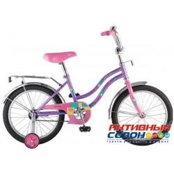 """Велосипед Novatrack Tetris 18"""" (Фиолетовый; Белый)"""