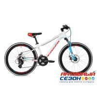 "Велосипед Stinger Magnet Std (24"" 14 скор.) (Р-р = 14""; Цвет: Белый) Рама Алюминий"