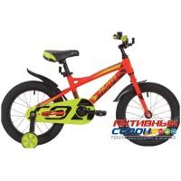 """Детский велосипед NOVATRACK 16"""" TORNADO 2019 (Красный; Черный) Рама алюминий"""