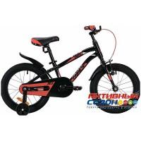 """Детский велосипед NOVATRACK 16"""" PRIME 2019 (Черный; Коричневый; Салатовый; Белый) Рама алюминий"""