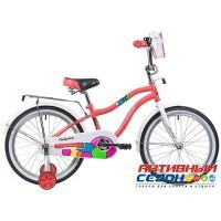 """Детский велосипед NOVATRACK CANDY 20"""" (2019) (Белый; Коралловый)"""