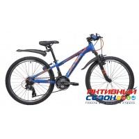 "Велосипед Novatrack Extreme (24"" 21 скор.) (Р-р = 13""; Цвет: Синий) Рама Алюминий"