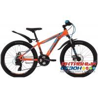 "Велосипед Novatrack Extreme Disk 2019 (24"" 21 скор.) (Р-р = 11""; Цвет: Оранжевый) Рама Алюминий"