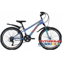 """Велосипед Novatrack Action (24"""" 18 скор.) (Р-р = 12""""; Цвет: Синий) Рама Сталь"""