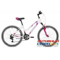 """Велосипед Stinger Laguna (24"""" 12 скор.) (Р-р = 14"""" Цвет: Белый; Фиолетовый) Рама Алюминий"""