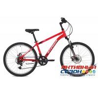 "Велосипед Stinger Caiman D (24"" 12 скор.) (Р-р = 14""; Цвет: Красный) Рама Сталь"