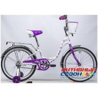 """Велосипед Novatrack Butterfly 20"""" (белый-розовый; белый-фиолетовый)"""