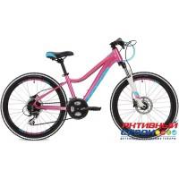 "Велосипед Stinger Fiona Pro (24"" 24 скор.) (Р-р = 12""; Цвет: розовый) Рама Алюминий"