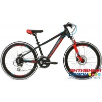 """Велосипед Stinger Magnet Pro (24"""" 24 скор.) (Р-р = 14""""; Цвет: Черный) Рама Алюминий"""
