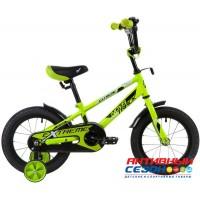 """Велосипед NOVATRACK EXTREME (14"""" 1 скор)  (Цвет : Салатовый, Синий, Коричневый)"""