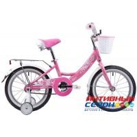 """Детский велосипед Novatrack Girlish Line 16"""" (Розовый)"""