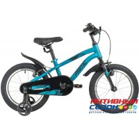 "Детский велосипед NOVATRACK 16"" PRIME 2020 (Синий) Рама алюминий"