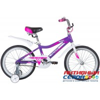 """Детский велосипед Novatrack Novara 18"""" (Лиловый) Рама Алюминий"""