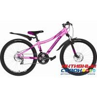 """Велосипед Novatrack Katrina (24"""" 21 скор.) (Р-р = 12""""; Цвет: розовый металлик) Рама Алюминий"""
