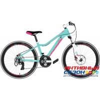 "Велосипед Stinger Fiona STD (24"" 24 скор.) (Р-р = 12""; Цвет: зеленый) Рама Алюминий"