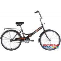 Велосипед складной Novatrack TG-24 classic (24'' 1 скор.) (Цвет: Черный, Белый) Рама Сталь