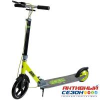 Самокат городской NOVATRACK POLIS колеса 230/180 мм (лимонный)