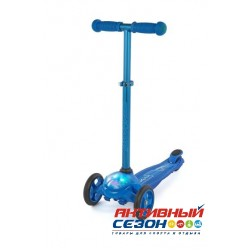 Самокат Moby Kids регулируемая по высоте ручка, подсветка (синий) 64963