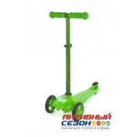 Самокат Moby Kids регулируемая по высоте ручка, подсветка (зеленый) 64964