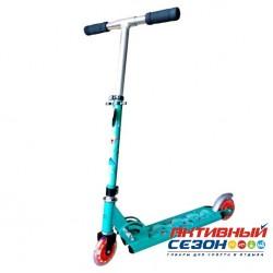 Скутер X-Match Cute, 100 мм PVC свет (бирюза)