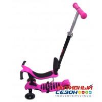 """Самокат 3 в 1 """"Slider"""" (самокат, велобег, велобег с ручкой) (розовый)"""