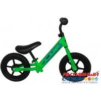 """Велобег 12"""" Slider колеса EVA с пластиковыми дисками (матовый зеленый)"""