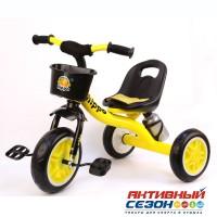 """Велосипед GT9596 HIPPO трехколесный, пласт.колеса 10""""/8"""" , цвета в ассорт."""