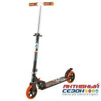 Самокат городской NOVATRACK JUNGLE колеса 145 мм (черно-оранжевый)