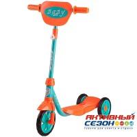 Самокат городской Foxx Baby с пластиковой платформой и EVA колесами 115мм (мятный)