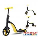 Самокат-трансформер 3 в 1 Nadle (Беговел, самокат, велосипед) желтый
