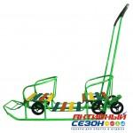 Санки ПОГОДКИ УНИВЕРСАЛ - 1 (с механизмом выдвижных колесных шасси) (Зеленый)